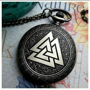 Valknut Viking pocket watch